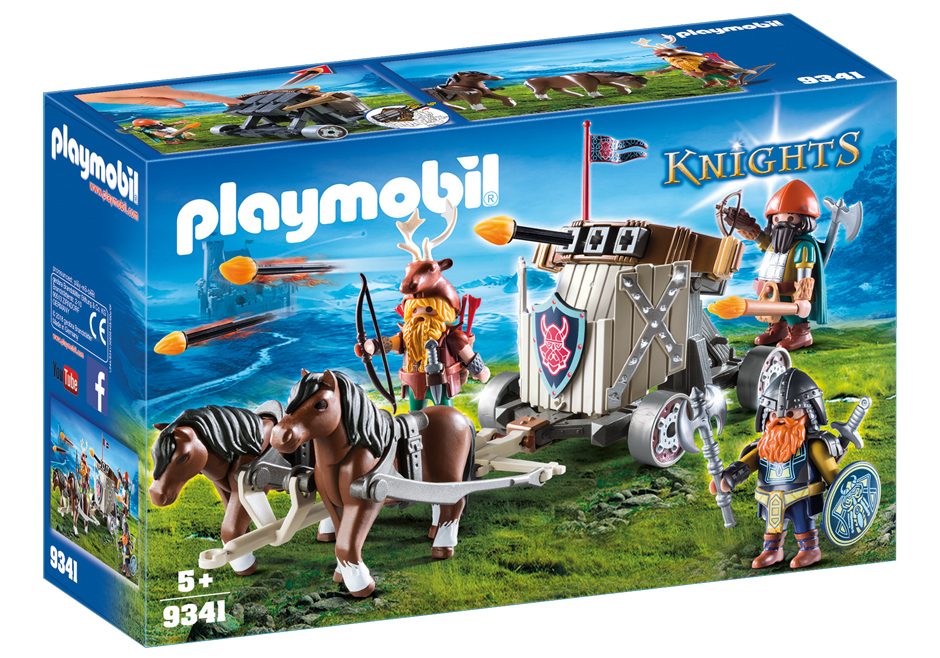Playmobil 9341 - Pony Harness with Dwarf Ballista - Box