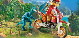 Playmobil - 9431 - Motocross Bike with Raptor