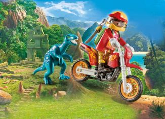 Playmobil - 9431 - Motorcross Bike mit Raptor