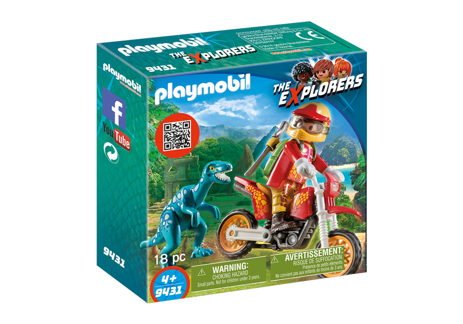 Playmobil 9431 - Motorcross Bike mit Raptor - Box