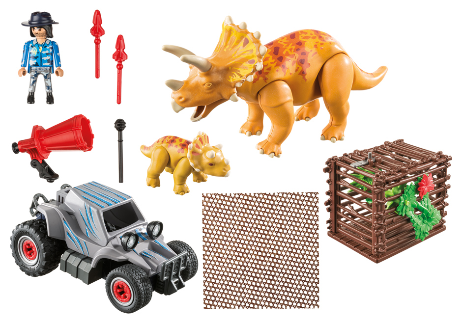 Playmobil 9434 - Enemy Quad with Triceratops - Back