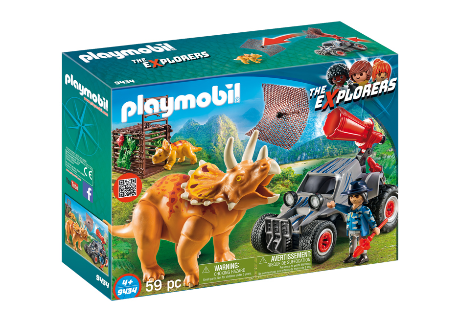 Playmobil 9434 - Enemy Quad with Triceratops - Box