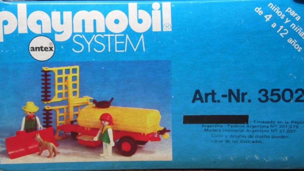 Playmobil 3502-ant - Tank trailer and Thresher - Box