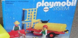 Playmobil - 3502-ant - Tank trailer and Thresher