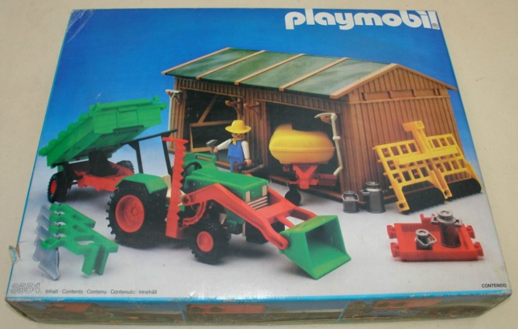 Playmobil - 3554-ant - Shed / Tools / Tractor