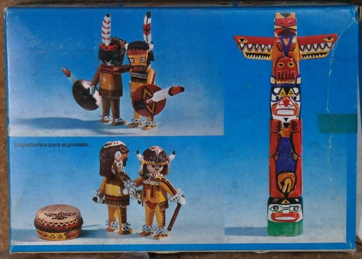 Playmobil 3620-ant - Indians / Totem Pole - Back