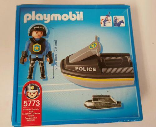 Playmobil 5773 - Special SWAT Team Police Jetski - Back