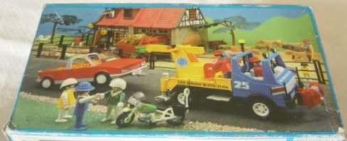 Playmobil 3453-esp - Blue/Yellow Tow Truck - Back