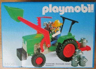 Playmobil - 3500-esp - Green Tractor & Farmer