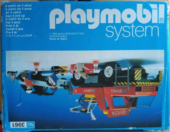 Playmobil 3961v1-esp - Red Tow Truck - Box