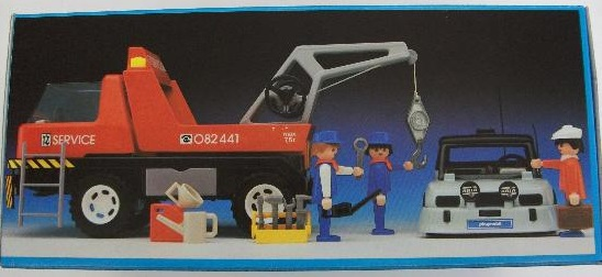 Playmobil 3961v2-esp - Red Tow Truck - Back