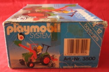 Playmobil 3500-ita - Green Tractor & Farmer - Box
