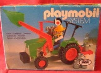 Playmobil - 3500-ita - Green Tractor & Farmer