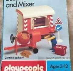 Playmobil - 1738-pla - Builder's Caravan and Mixer