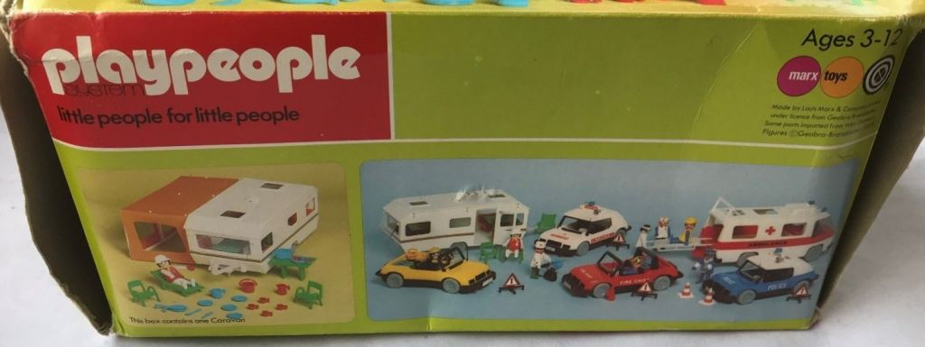Playmobil 1788-pla - Caravan / orange awning - Back