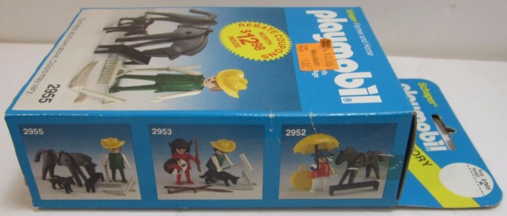 Playmobil 2955-sch - Farmer & Horse - Back