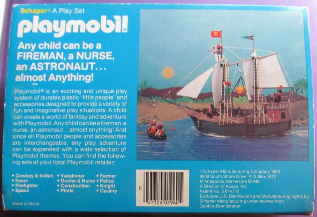 Playmobil 2960-sch - Indian, horse, totem , canoe and tepee - Back