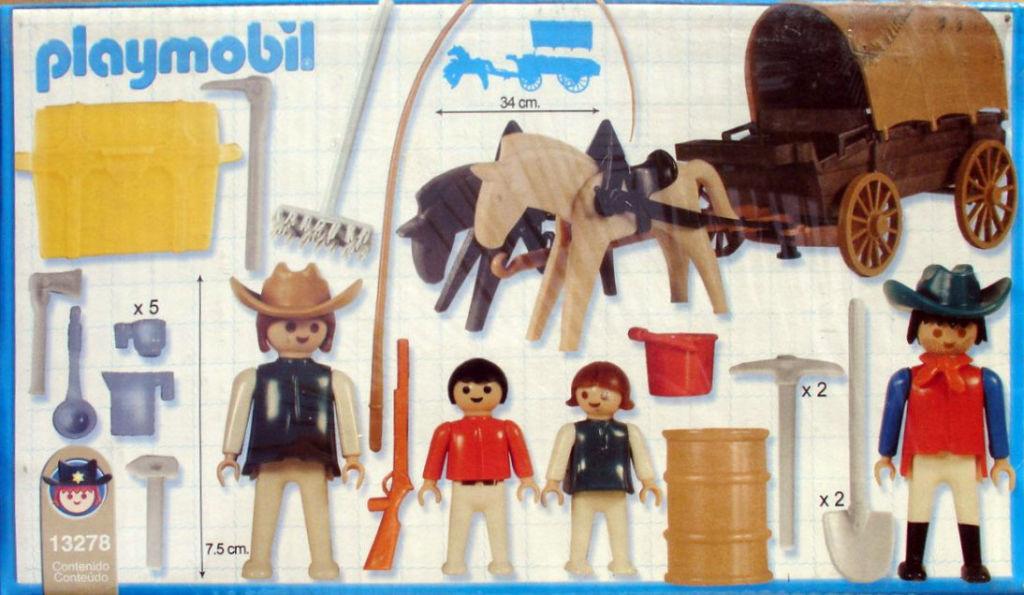 Playmobil 13278v2-ant - Covered Wagon - Back