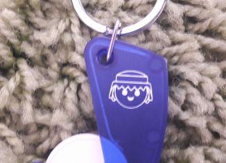 Playmobil - XXXX - Shopping chip holder Keychain