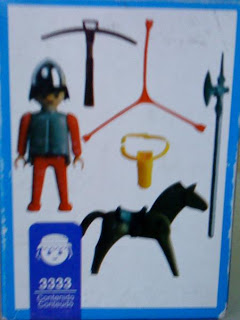 Playmobil 3333v2-ant - Medieval soldier on horseback - Back