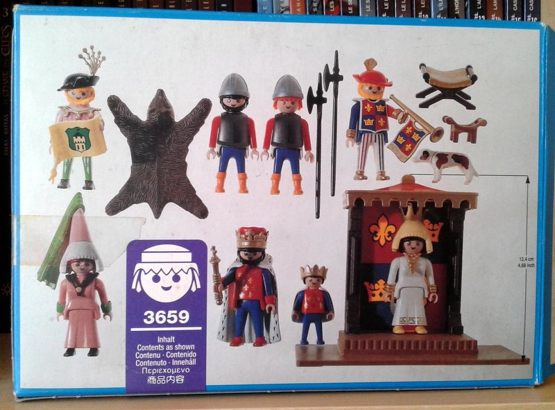 Playmobil 3659 - King and His Court - Back