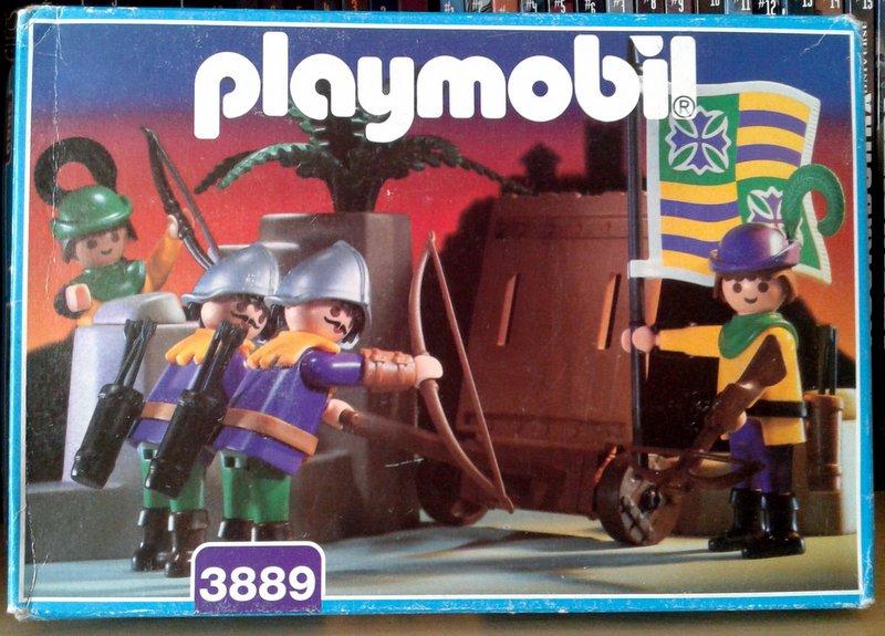 Playmobil 3889 - Archers Wall - Box