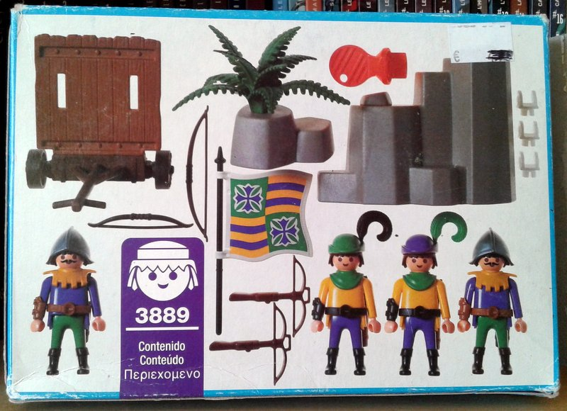 Playmobil 3889 - Archers Wall - Back