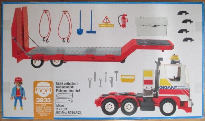 Playmobil 3935v1 - Driver / semi-trailer - Back