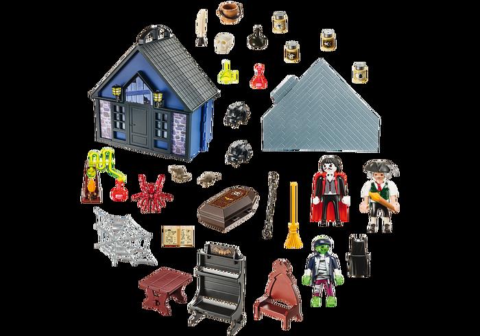 Playmobil 9312 - Take Along Haunted House - Back