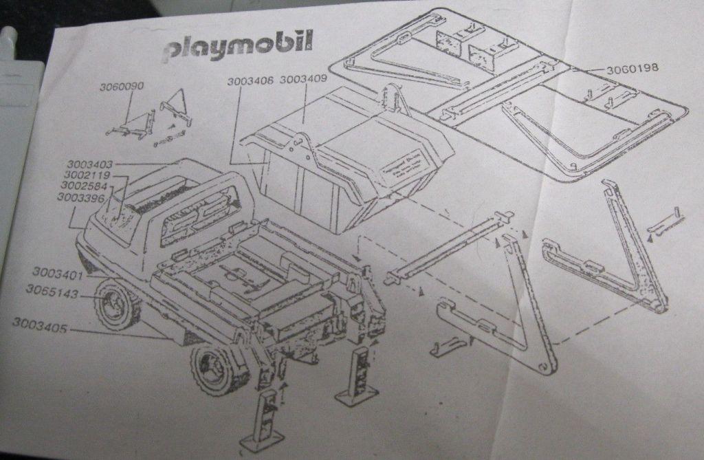 Playmobil 3969-ant - Dump Truck - Back