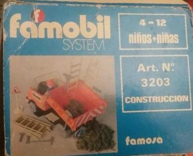 Playmobil 3203v1-fam - Construction truck - Box