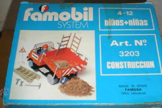Playmobil 3203v2-fam - Construction truck - Box