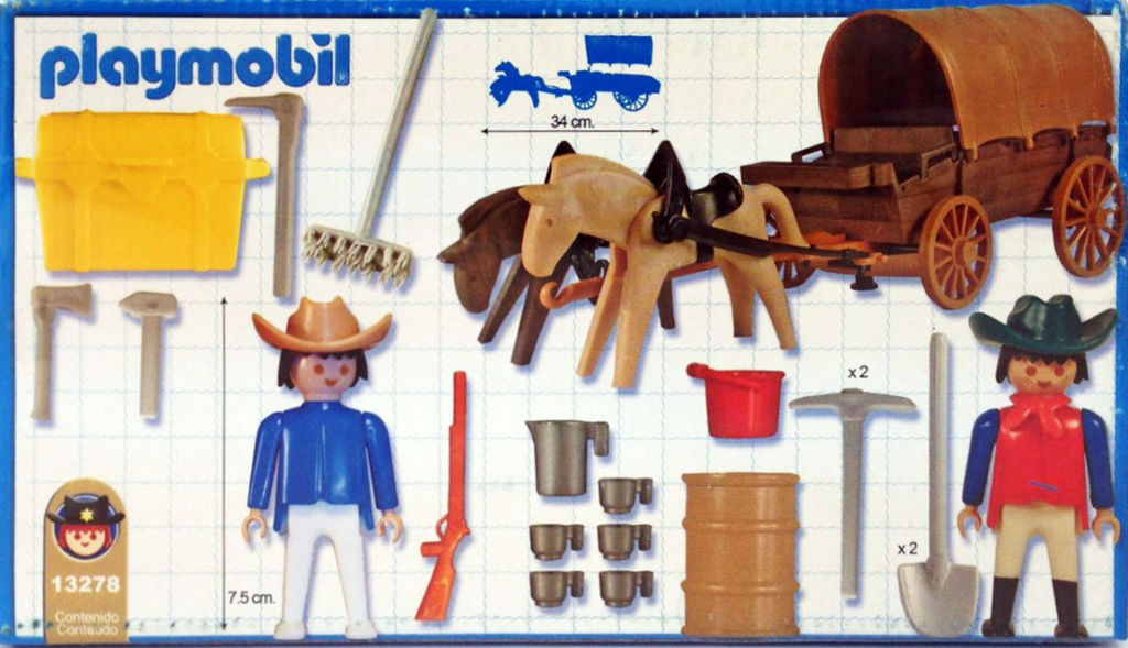 Playmobil 13278v1-ant - Covered Wagon - Back