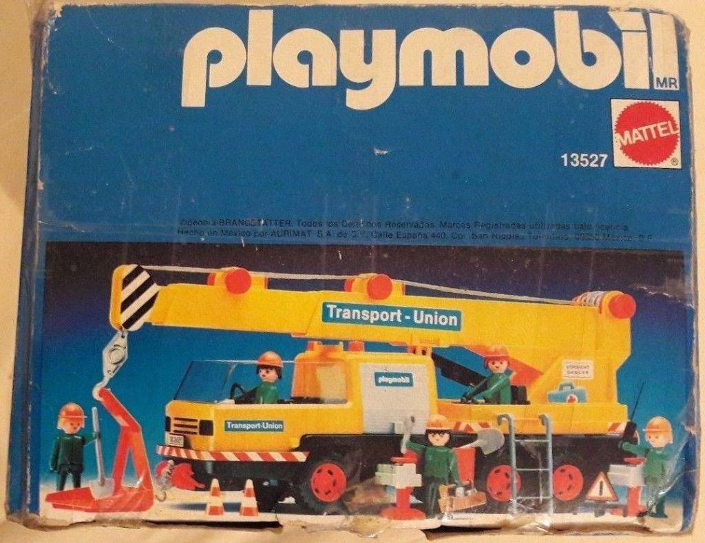 Playmobil 13527-xat - Transport-Union crane truck - Box