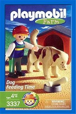 Playmobil 3337-usa - Dog Feeding Time - Box