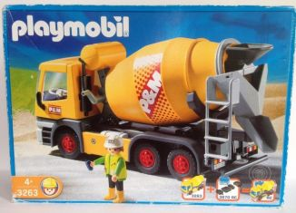 Playmobil set 3263s2 cement mixer klickypedia - Camion toupie playmobil ...