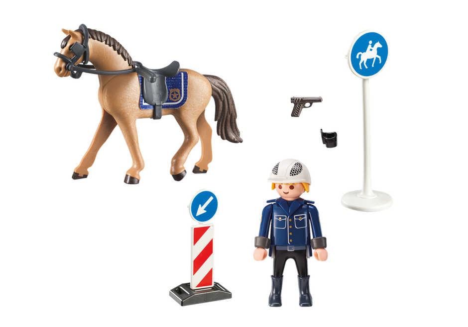 Playmobil 9260 - Mounted policeman - Back