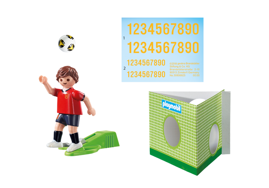 Playmobil 9517 - Soccer Player Spain - Back