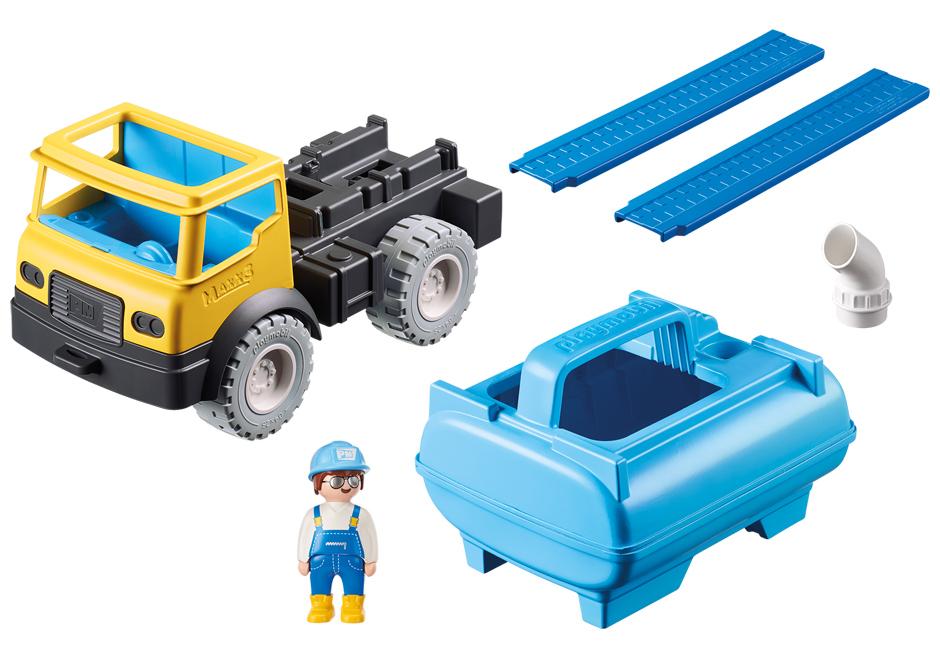 Playmobil 9144 - Water tank truck - Back