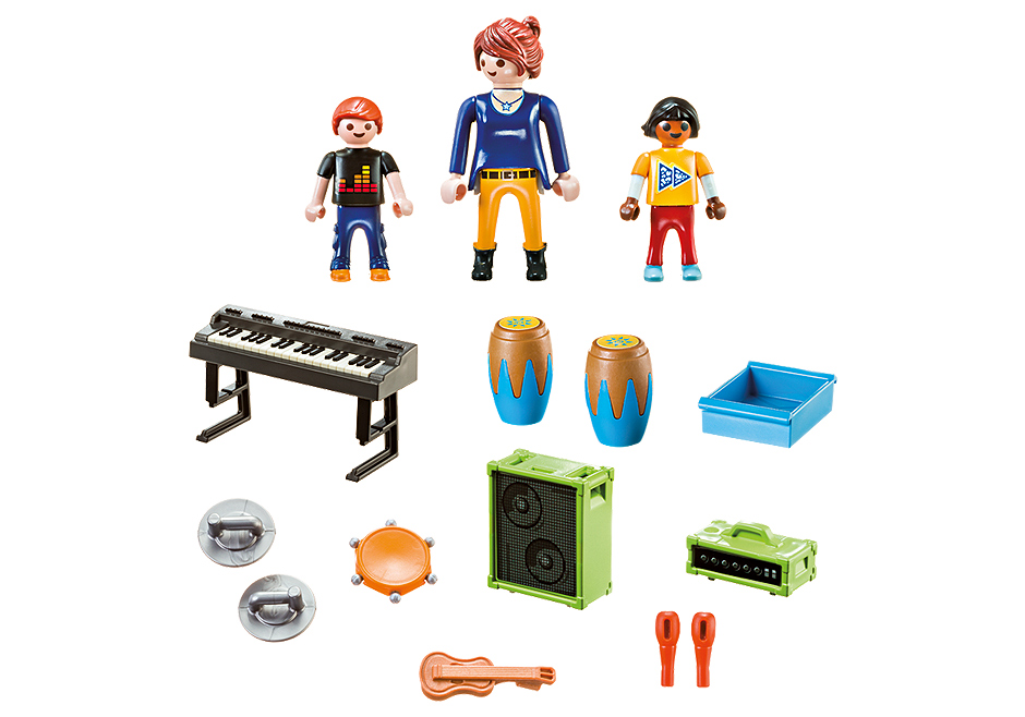 Playmobil 9321 - Music Class Carry Case - Back