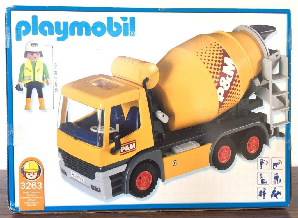 Playmobil 3263-usa - Cement Mixer - Back
