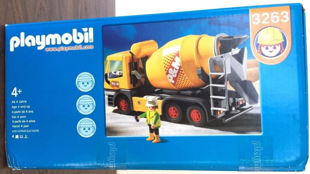 Playmobil set 3263 usa cement mixer klickypedia - Camion toupie playmobil ...