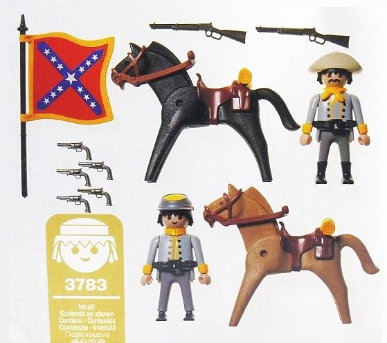 Playmobil 3783 - Mounted Rebels - Back