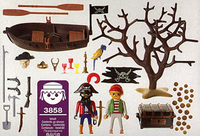Playmobil 3858-esp - treasure hunters - Back
