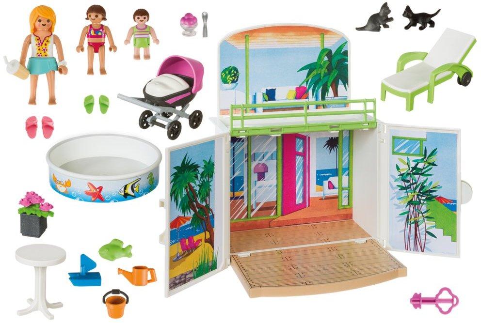 Playmobil 6159 - Secret Beach Bungalow Play Box - Back