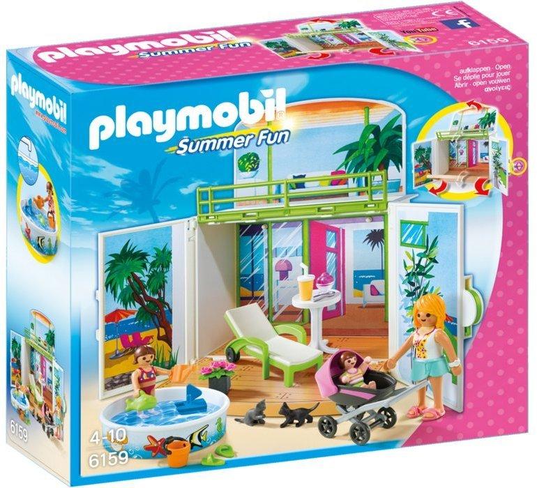 Playmobil 6159 - Secret Beach Bungalow Play Box - Box