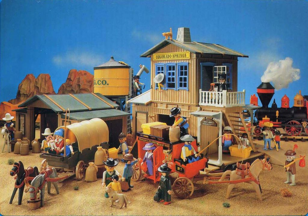 Playmobil 3278-esp - Settlers & covered wagon - Back