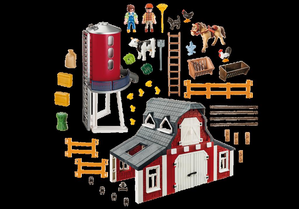 Playmobil 9315-usa - Barn with Silo - Back