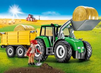 Playmobil - 9317-usa - Tractor with Trailer