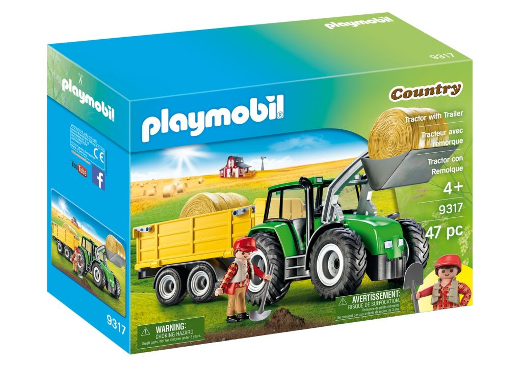 Playmobil 9317-usa - Tractor with Trailer - Box